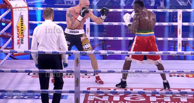 Taylor Mabika s'écroule par KO face au polonais Michał Cieślak