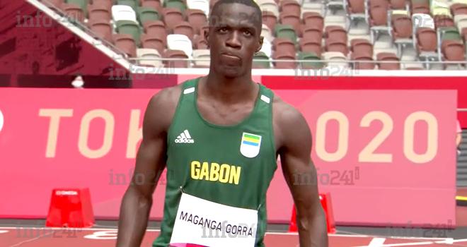 JO Athlétisme: Guy Maganga envoie le Gabon au premier tour du 100m hommes