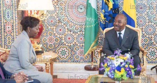 Louise Mushikiwabo parle Francophonie avec Ali Bongo